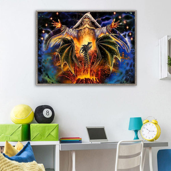 Dragon 5D DIY Partial Drill Round Drill Diamond Painting