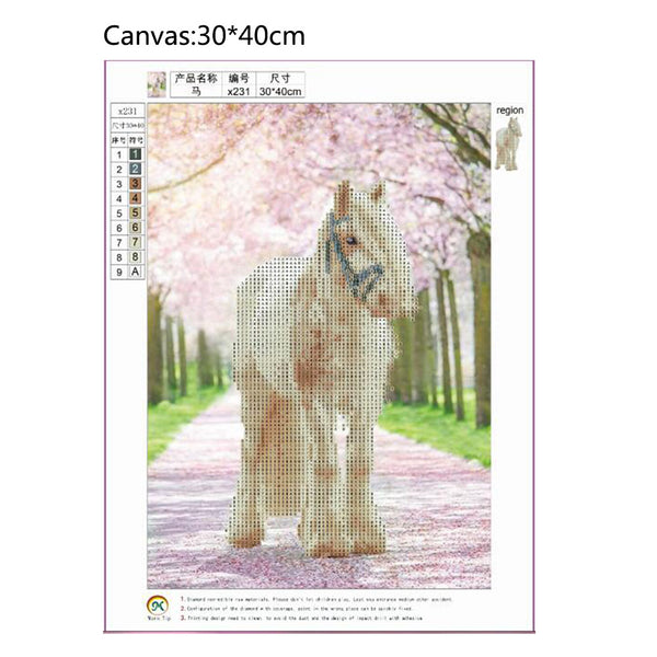 Horse DIY Partial Drill Round Drill Diamond Painting