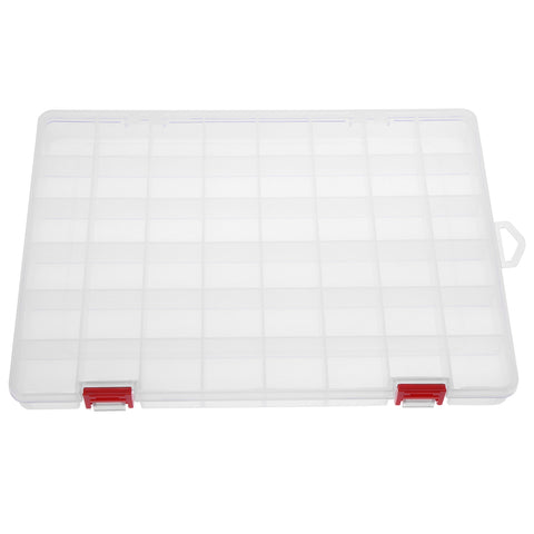 48-Compartment Transparent PP Plastic Fishing Lure Storage Box Container 5D Diamond Art Storage Container