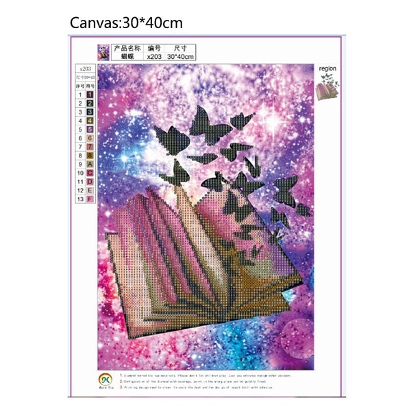 Butterflies 5D DIY Partial Drill Round Drill Diamond Painting