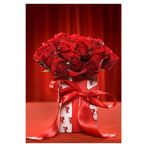 Red Roses Flowers 5D DIY Partial Drill Round Drill Diamond Painting