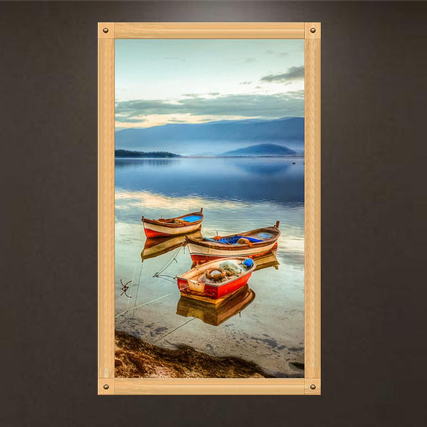 Boat 5D Partial Drill Diamond Painting DIY Mosaic Cross Stitch Kit Home Decor