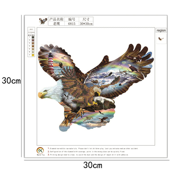 Eagle 5D DIY Partial Drill Round Drill Diamond Painting