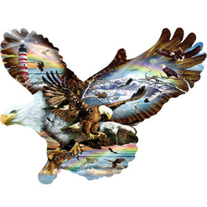 5D Partial Drill Round Diamond Painting Eagle Animal Embroidery Cross Stitch Home Decor