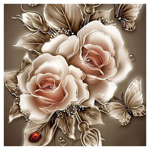 Rose 5D Diamond Painting Embroidery DIY Craft Cross Stitch Home Decor