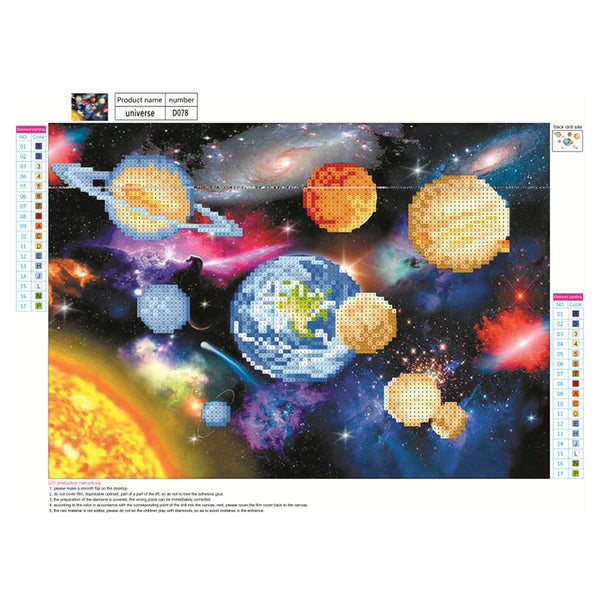 Outer Space Galaxy 5D DIY Partial Drill Round Drill Diamond Painting