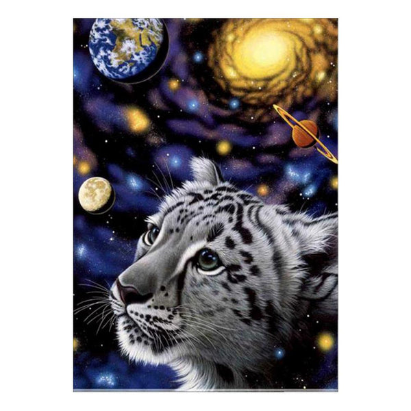 Outer Space Tiger 5D DIY Partial Drill Round Drill Diamond Painting