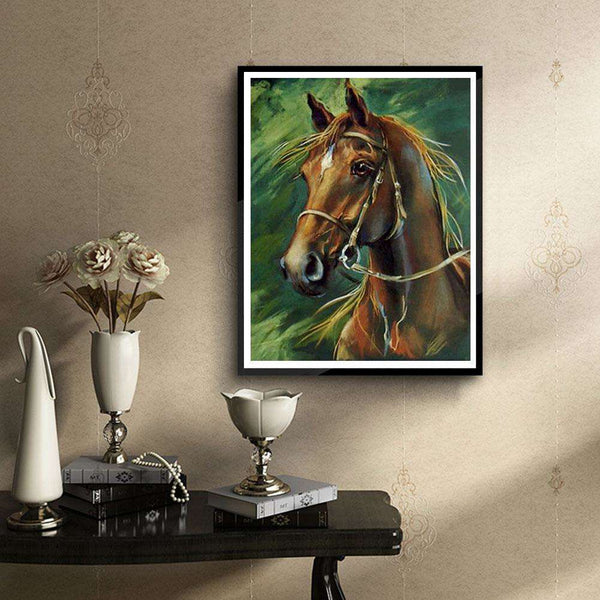 Horse 5D DIY Round Drill Full Drill Diamond Painting