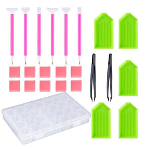 24pcs 5D DIY Diamond Painting Tools Set