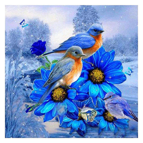 Birds and Flower DIY Full Drill Round Drill Diamond Painting