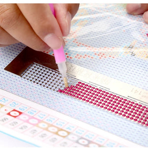 The Secret to keep the rows straight in diamond painting- Stainless Steel Diamond Painting Grid Ruler(For Round Drill)