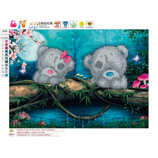 Bears 5D DIY Partial Drill Round Drill Diamond Painting