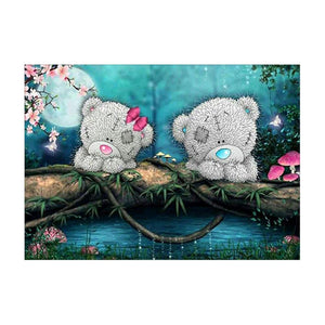 2 Bears 5D Partial Drill Diamond Painting Embroidery DIY Craft Cross Stitch Home Decor