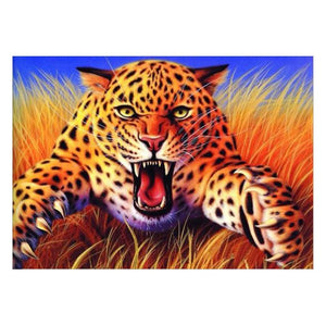 Leopard 5D Partial Drill Diamond Painting Embroidery DIY Craft Cross Stitch Home Decor