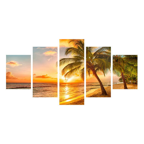 Coconut Tree DIY 5D Partial Drill Diamond Painting Craft Kit Set Home Decor