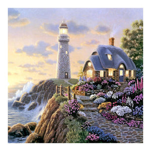 Lighthouse 5D DIY Round Drill Partial Drill Diamond Painting