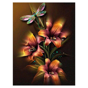 Flower 5D Partial Drill Diamond Painting Embroidery DIY Cross Stitch Craft Needlework