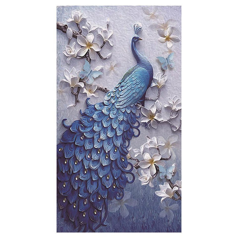 5D DIY Animal Peacock Embroidery Partial Drill Diamond Painting Rhinestones Cross Stitch
