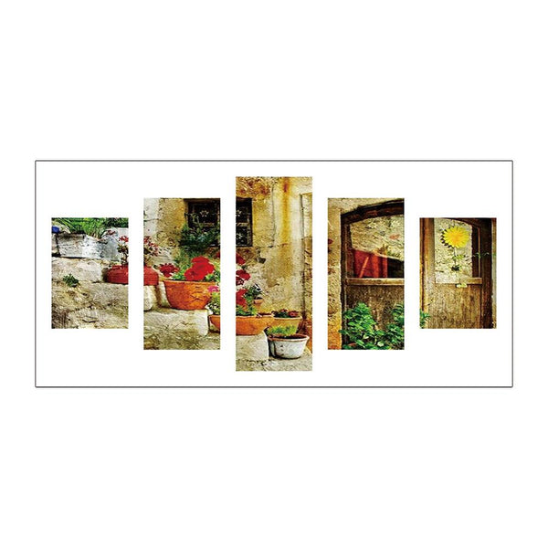 5 pcs-in one Combination 5D DIY Full Drill Diamond Painting Flowerpot(95x45cm)