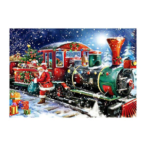 Christmas Train 5D DIY Full Drill Round Drill Diamond Painting