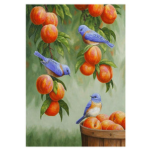 Peach Bird 5D DIY Full Drill Round Drill Diamond Painting