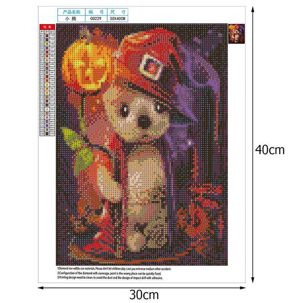 Halloween Pumpkin Dog 5D DIY Full Drill Round Drill Diamond Painting