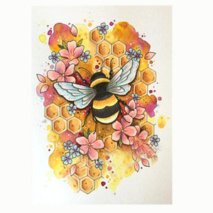 Bee DIY Partial Drill Round Drill Diamond Painting