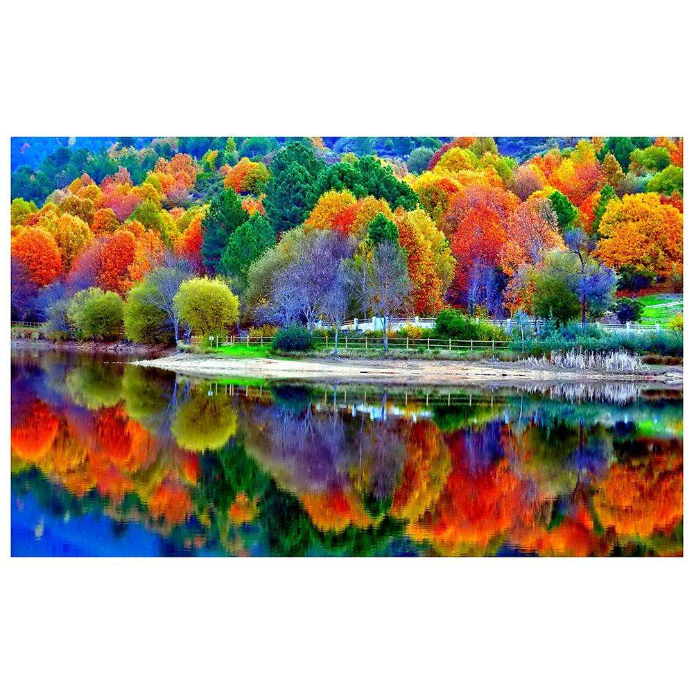 Fall Trees 5D DIY Full Drill Round Drill Diamond Painting