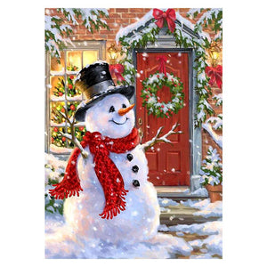 Snowman DIY Full Drill Round Drill Diamond Painting