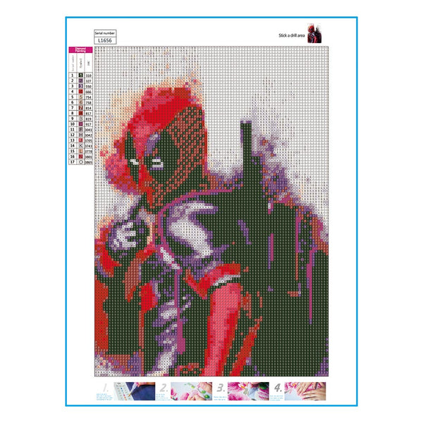 Marvel Characters Deadpool 5D DIY Full Drill Round Drill Diamond Painting