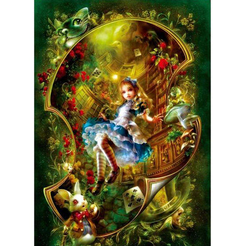 Alice in Wonderland 5D DIY Full Drill Round Drill Diamond Painting