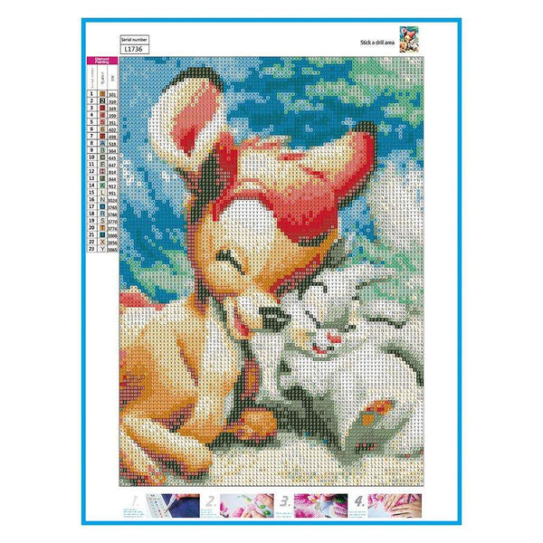 5D DIY Full Drill Diamond Painting Cartoon Cross Stitch Embroidery Kits