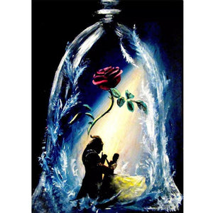 Beauty and the Beast DIY Full Drill Round Drill Diamond Painting