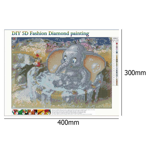 Elephant 5D DIY Full Drill Round Drill Diamond Painting