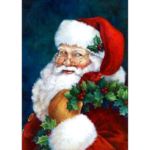 Christmas Santa Claus DIY Full Drill Round Drill Diamond Painting