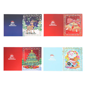 4pcs/set 5D DIY Diamond Painting Christmas Greeting Card