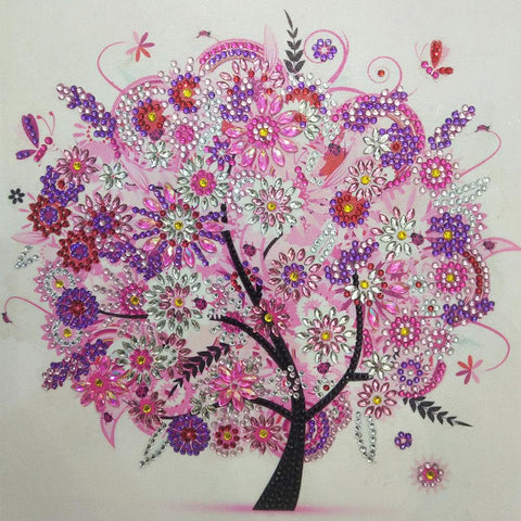 5D DIY Special Shaped Drill Crystal Rhinestones Diamond Painting Tree