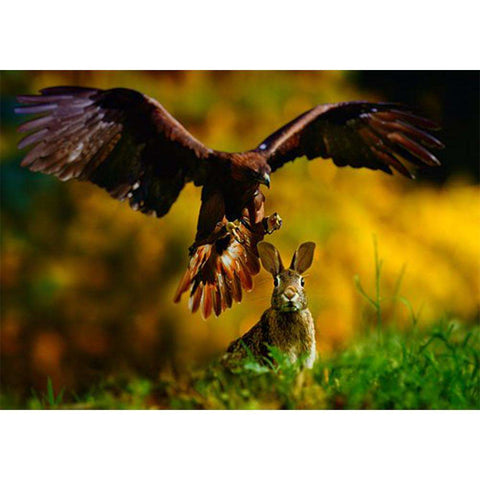 5D DIY Full Drill Diamond Painting Eagle Rabbit Cross Stitch Embroidery Kit