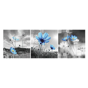 3 pcs-in one Combination 5D DIY Full Drill Diamond Painting Flowers Kit(80x30cm)