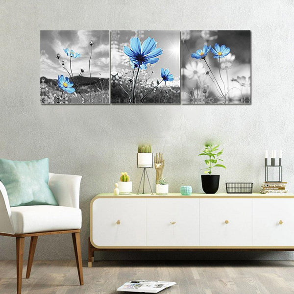 3 pcs-in one Combination 5D DIY Full Drill Diamond Painting Flowers Kit