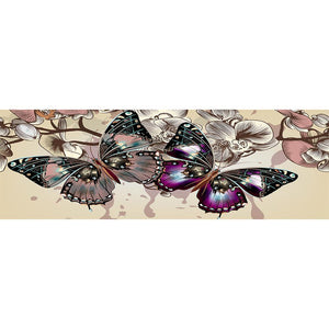 Butterfly DIY Full Drill Round Drill Diamond Painting(80x30cm)
