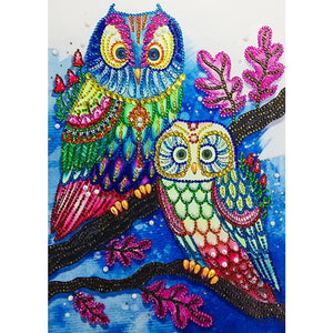 5D DIY Special Shaped Diamond Painting Colorful Bird Cross Stitch Embroider