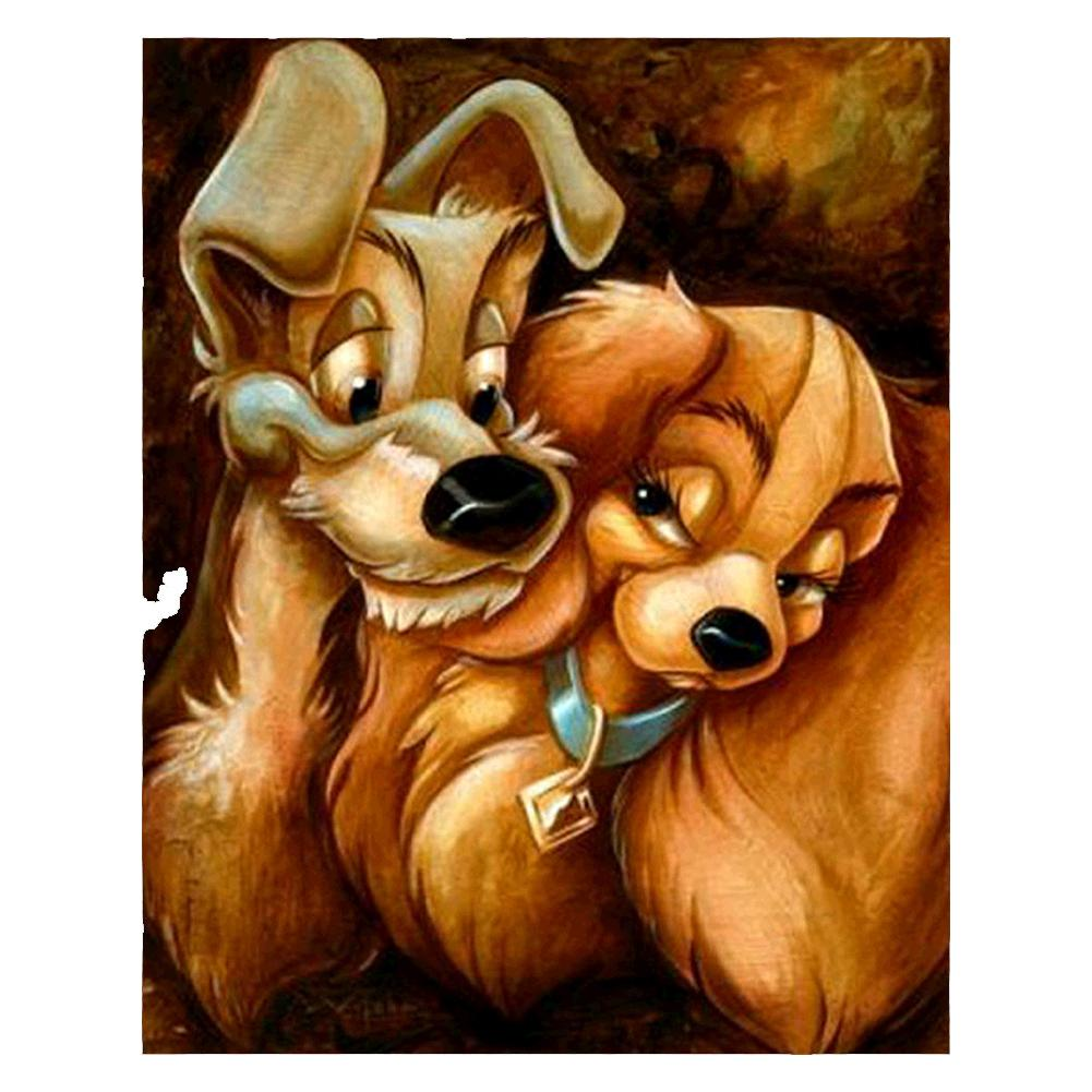 Lady and the Tramp 5D DIY Full Drill Round Drill Diamond Painting