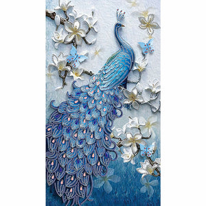 Peacock 5D DIY Special-shaped Drill Partial Drill Diamond Painting