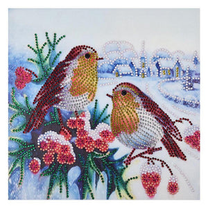 5D DIY Special Shaped Diamond Painting Spring Birds Cross Stitch Embroidery