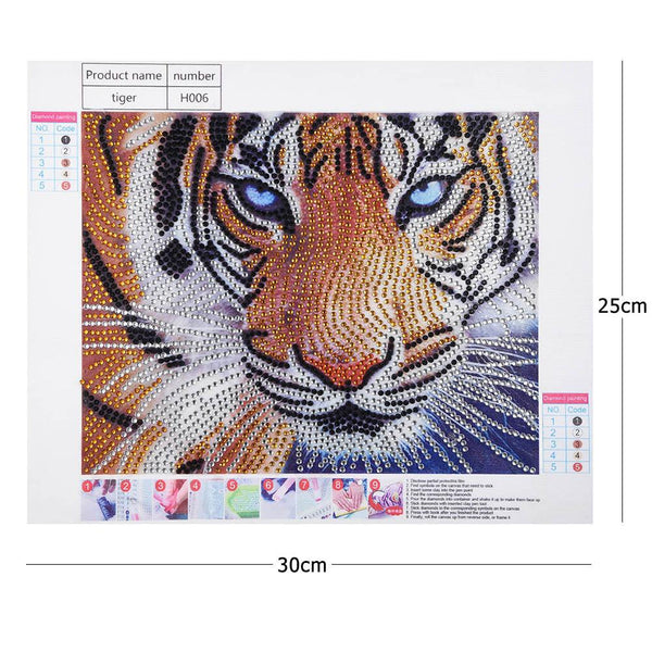 5D DIY Special Shaped Drill Crystal Rhinestones Diamond Painting Tiger