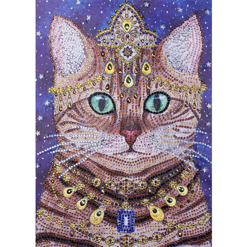 5D DIY Special Shaped Diamond Painting Noble Cat Cross Stitch Embroidery