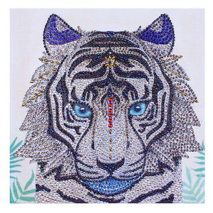 5D DIY Special Shaped Diamond Painting Tiger Animal Cross Stitch Embroidery