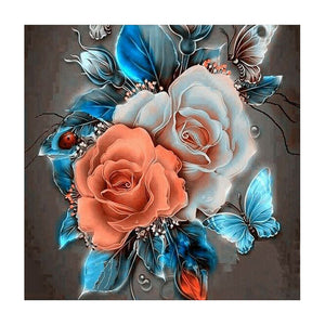 Retro Flower 5D DIY Full Drill Square Drill Diamond Painting