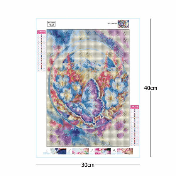 Butterfly Flower 5D DIY Full Drill Square Drill Diamond Painting